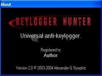 Pantallazo Keylogger Hunter