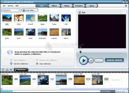 Pantallazo Wondershare Video to DVD Burner