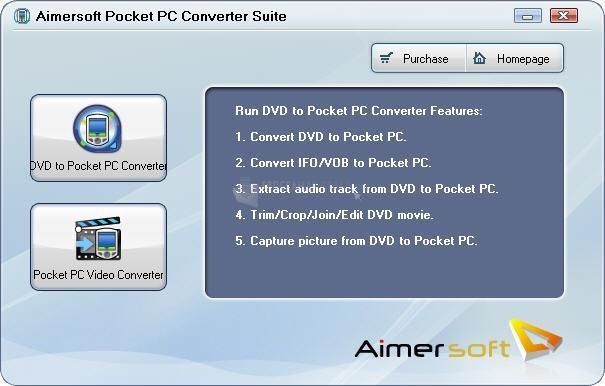 Pantallazo Aimersoft Pocket PC Converter Suite