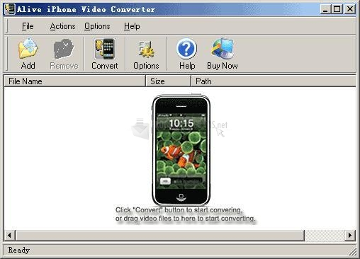 Pantallazo Alive iPhone Video Converter