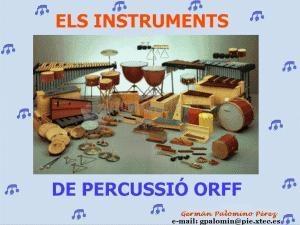 Pantallazo Los Instrumentos de Percusión Orff