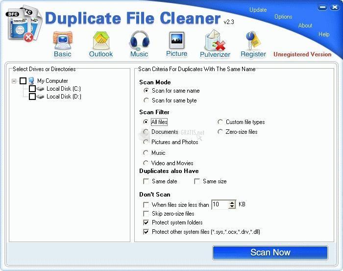 Pantallazo Duplicate Files Cleaner