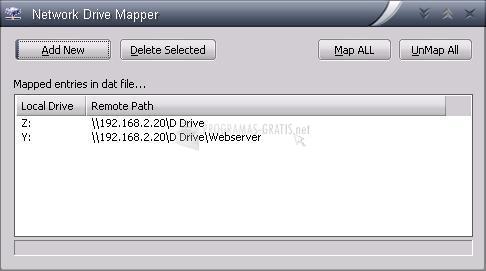 Pantallazo Network Drive Mapper