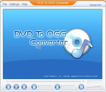 Pantallazo DVD To OGG Converter