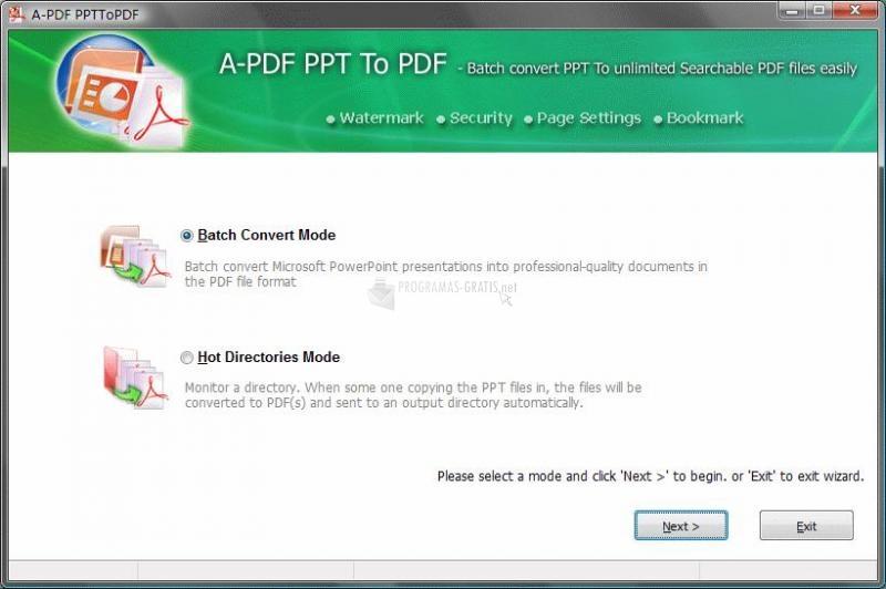 Pantallazo A-PDF PPT to PDF