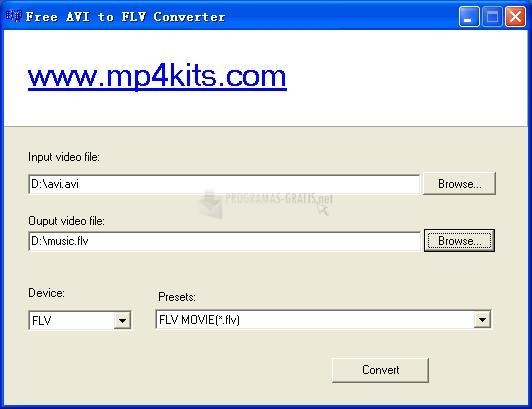 Pantallazo DoremiSoft Free AVI to FLV Converter