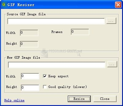 Pantallazo GIF Resizer