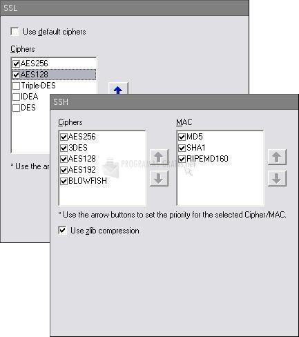 Pantallazo WS_FTP Professional