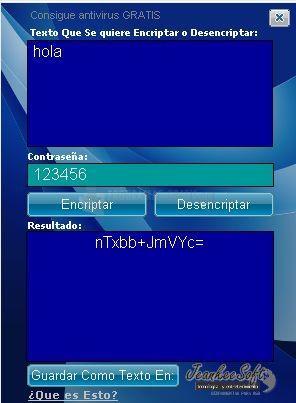 Pantallazo Texto Encripter