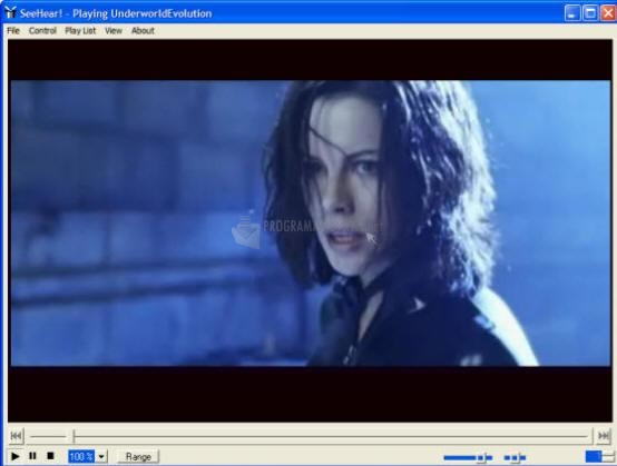Pantallazo SeeHear Media Player