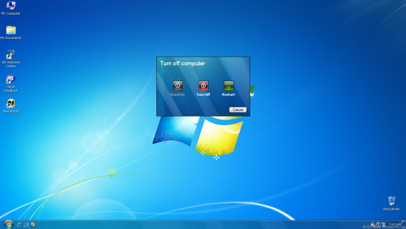 Pantallazo Seven Remix For Windows XP