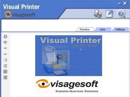 Pantallazo Visagesoft Visual Printer