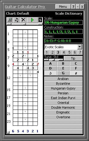 Pantallazo Guitar Calculator Pro