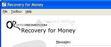 Pantallazo Recovery for Money