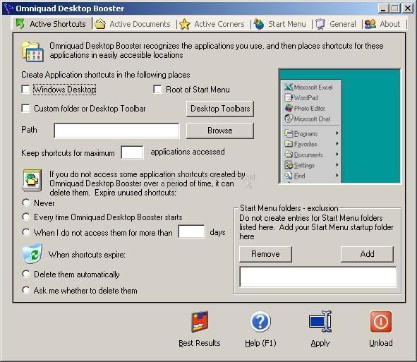 Pantallazo Omniquad Desktop Booster