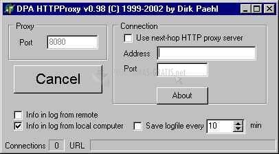Pantallazo DPA Http Proxy