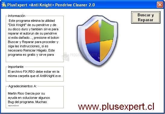 Pantallazo Anti-virus Disk Knight