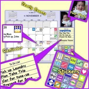 Pantallazo Monkeymen Desktop Calendar