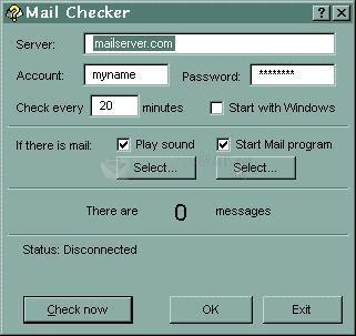 Pantallazo Rekenwonder Mail Checker