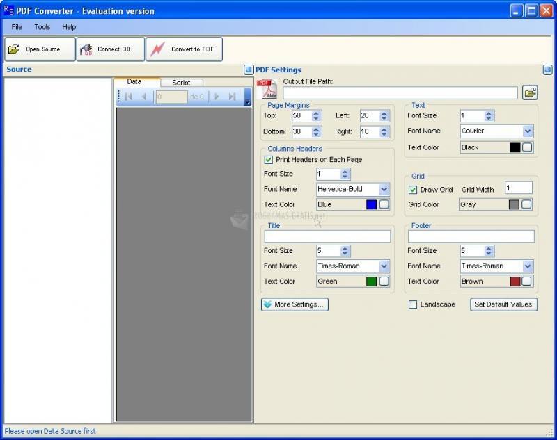 Pantallazo Rustemsoft PDF Converter