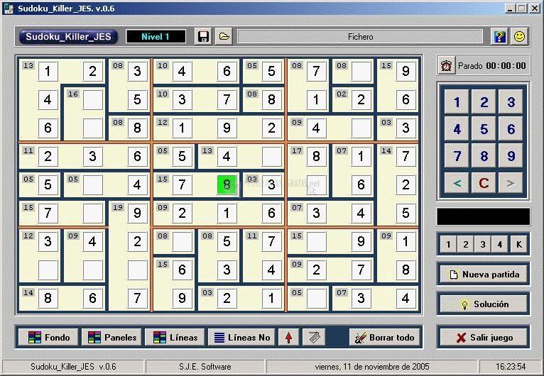 Pantallazo Sudoku Killer