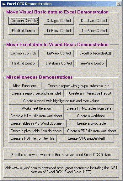 Pantallazo Excel OCX