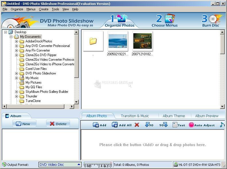 Pantallazo DVD Photo slideshow