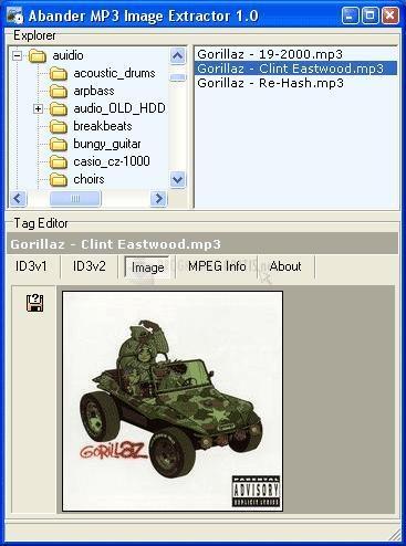 Pantallazo Abander MP3 Image Extractor