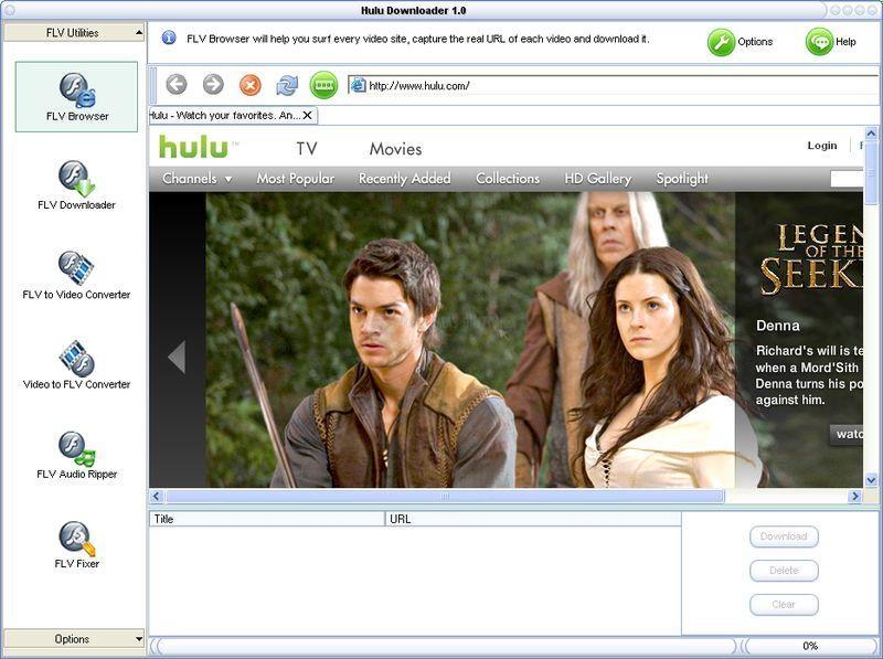 Pantallazo Hulu Downloader