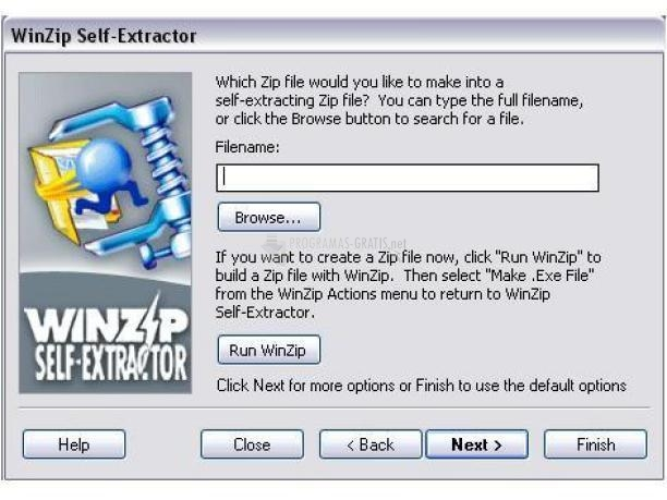 Pantallazo WinZip Self Extractor