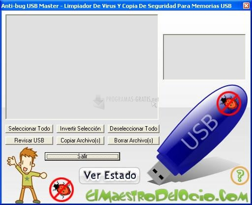 Pantallazo Anti-bug USB Master