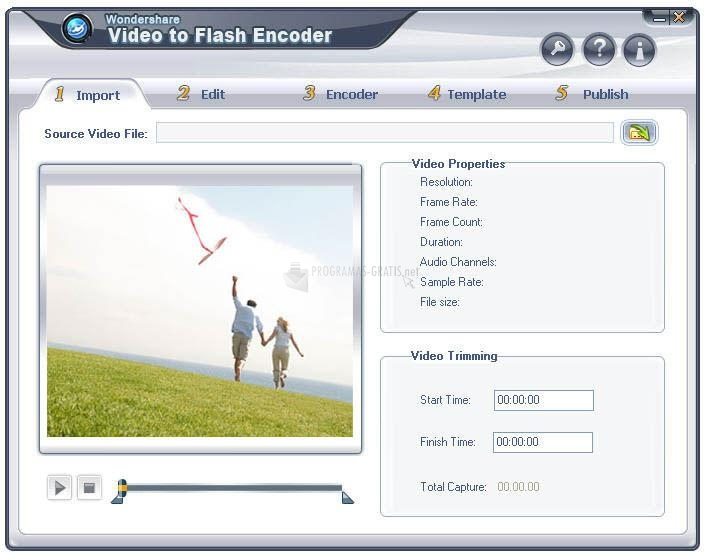 Pantallazo Video to Flash Encoder