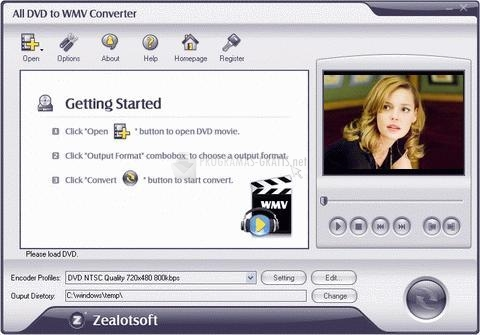 Pantallazo All DVD to WMV Converter
