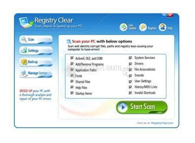 Pantallazo Registry Clear
