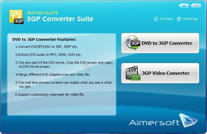 Screenshot Aimersoft 3GP Converter Suite