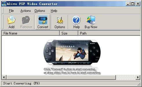 Pantallazo Alive PSP Video Converter