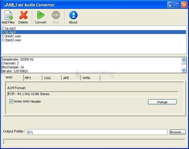 Pantallazo AML Fast Audio Converter