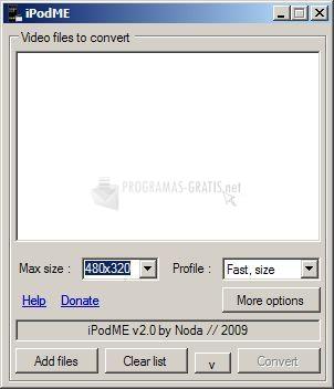 Pantallazo iPodME
