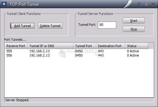 Pantallazo TCP Port Tunnel
