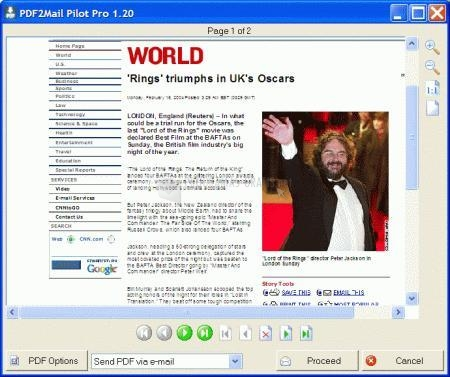 Pantallazo PDF2Mail Pilot