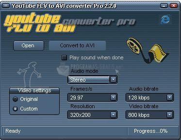 Foto YouTube FLV to AVI Converter PRO