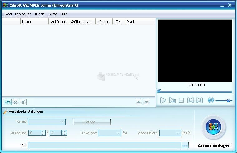 Pantallazo XsterSoft AVI MPEG Joiner