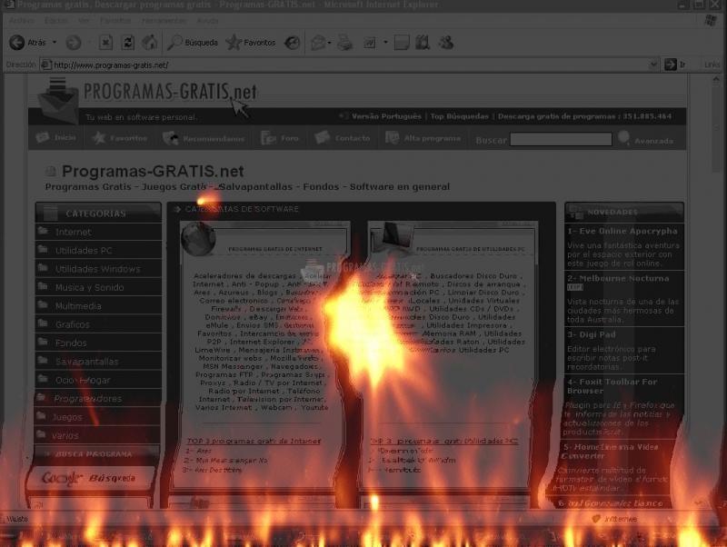 Pantallazo 2000th HellFire Screensaver