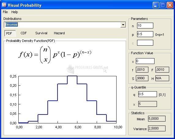 Pantallazo Visual Probability