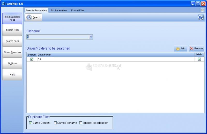 Pantallazo Iconico LookDisk XP