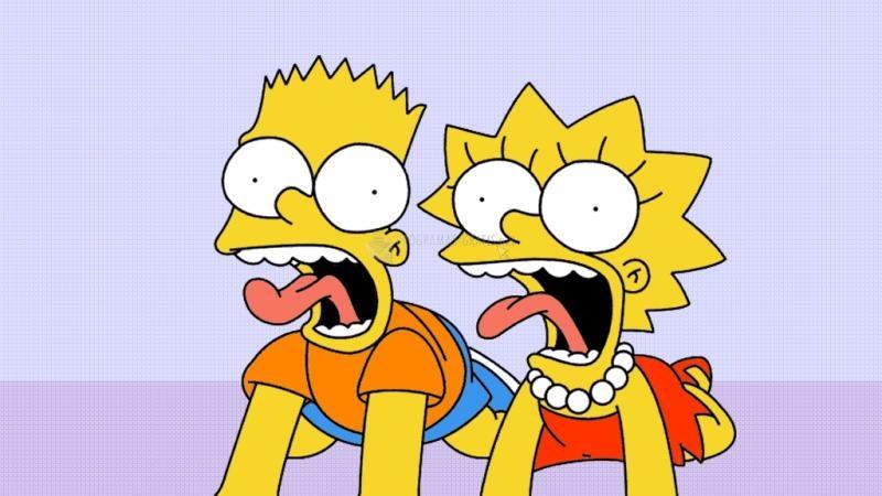 Pantallazo Bart y Lisa asustados