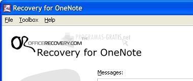 Pantallazo Recovery for OneNote