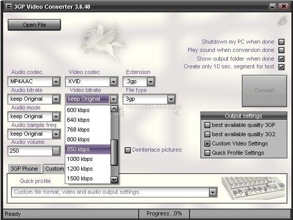 Foto Pegasus 3GP Video Converter