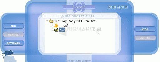 Pantallazo Hide Secret Files