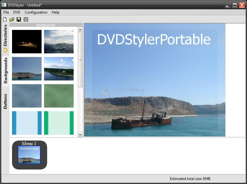 Pantallazo DVDStyler Portable